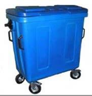 Контейнер для мусора полимерный 700 литров.